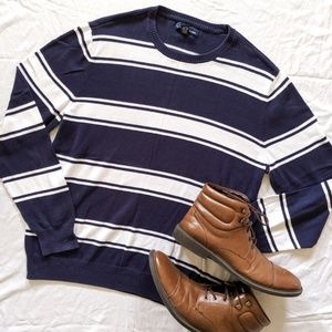 John Ashford Blue and White striped Sweater